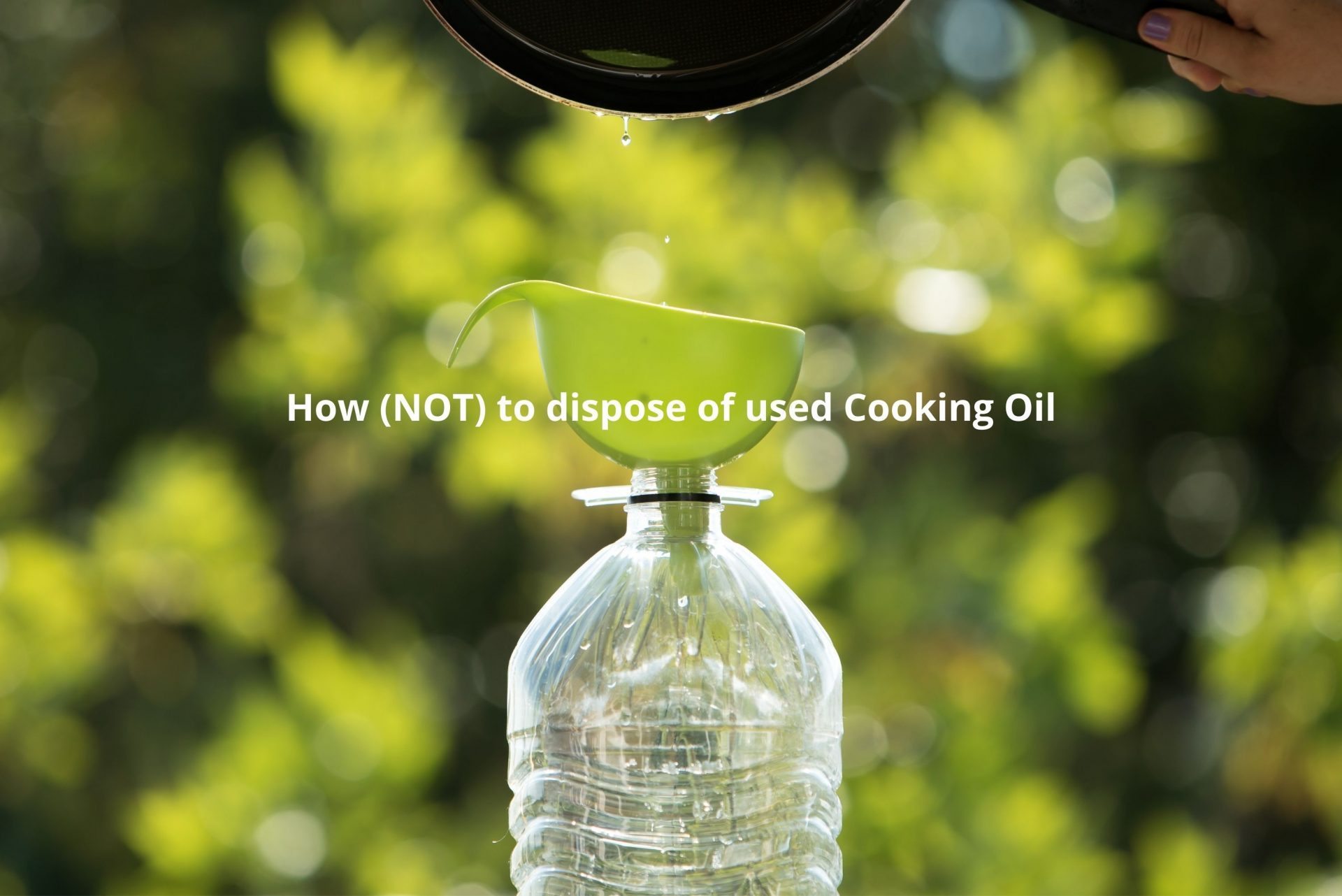 How (NOT) to dispose of used Cooking Oil