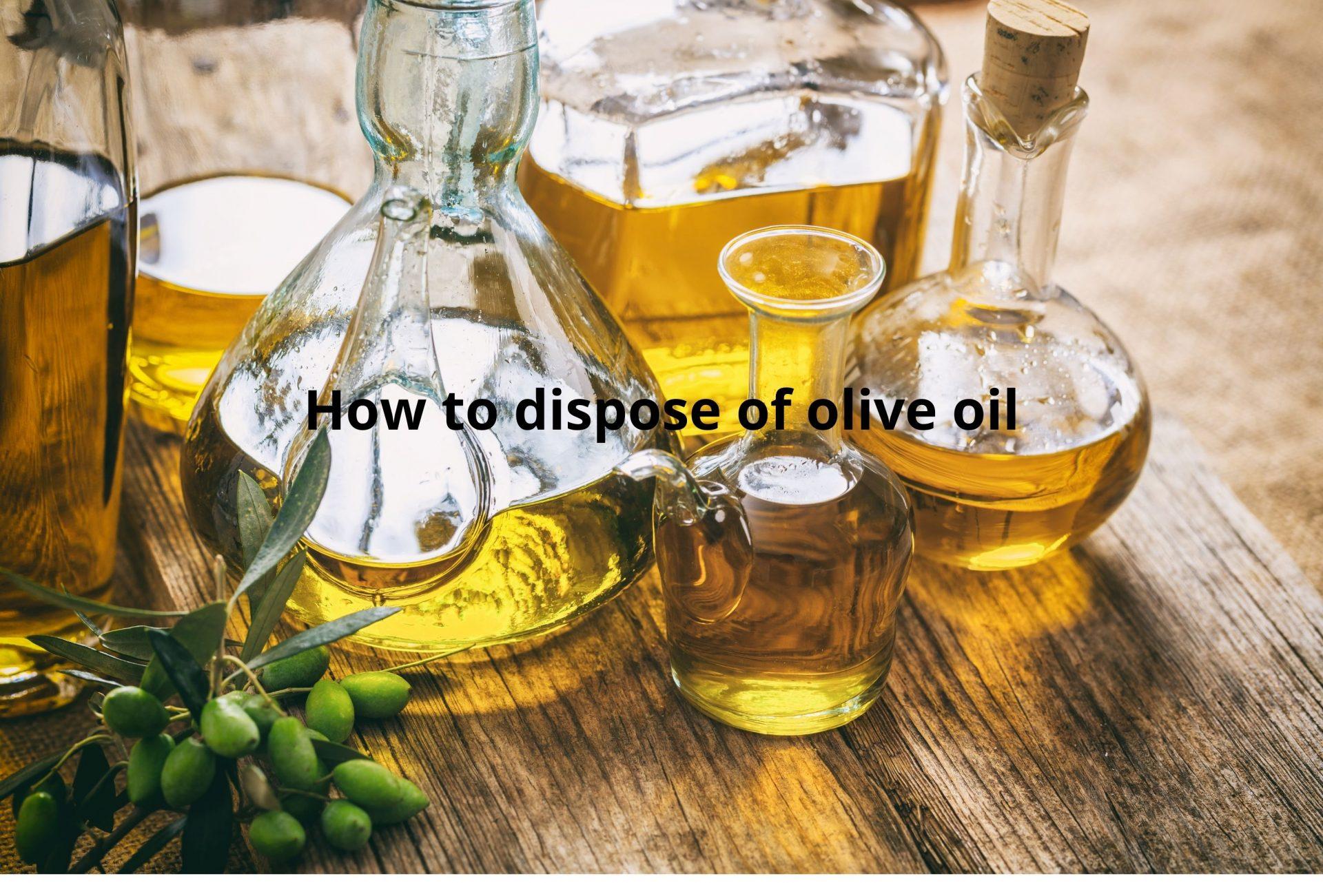 How to dispose of olive oil